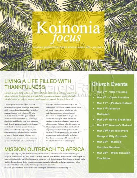 palm sunday template palm sunday palm branches newsletter template newsletter