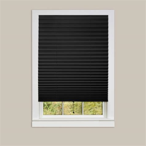 Redi shade gray paper room darkening pleated shade 36 in w x 72 in l 4 pack 1602298 the