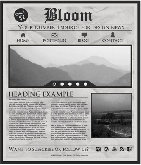 newspaper layout for photoshop adding html content on multiple columns with just plain