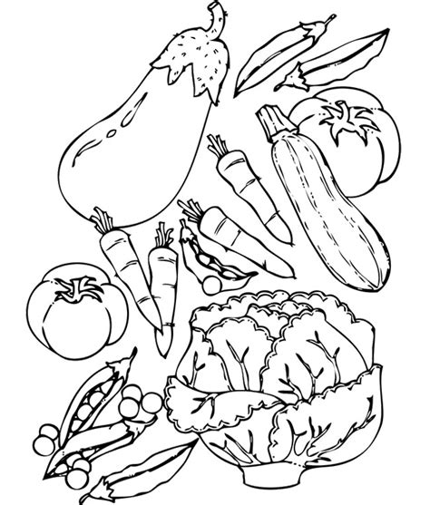 Coloring Page Vegetables | vegetable coloring pages for kids az coloring pages