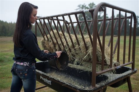 Hay Racks For Horses In Pasture by Pasture Feeder