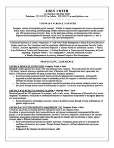 Payroll Officer Sle Resume by Payroll Manager Resume Template Premium Resume Sles Exle