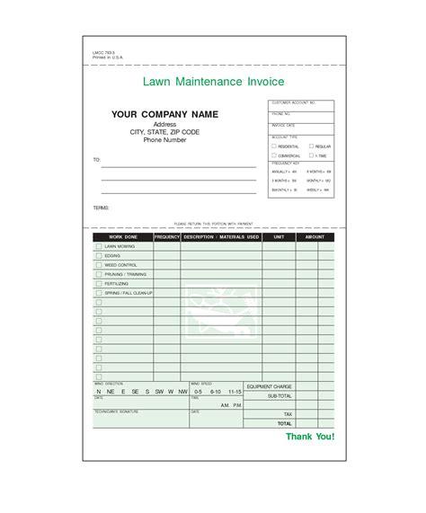 Lawn Service Invoice Template Invoice Template Ideas Service Invoice Template Free