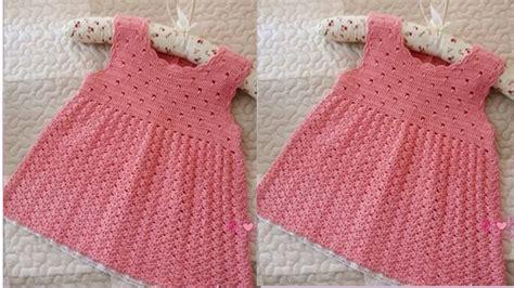 vestidos para bebes de tejido vestidos y su 201 ter para bebe tejidos a crochet youtube