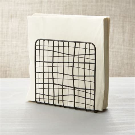 Bendt Iron Wire Napkin Holder   Reviews   Crate and Barrel