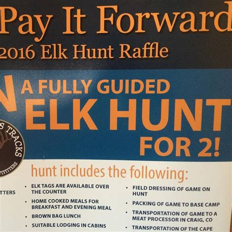 elk hunting trip giveaway for the quot pay it forward quot event august 25 28 lake of the woods - Hunting Trip Giveaways