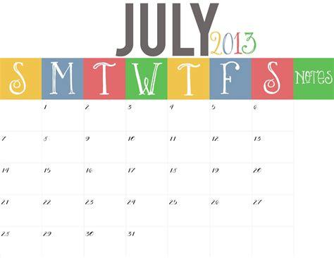 Calendar July 2013 Blank Calendar Of July 2013 New Calendar Template Site