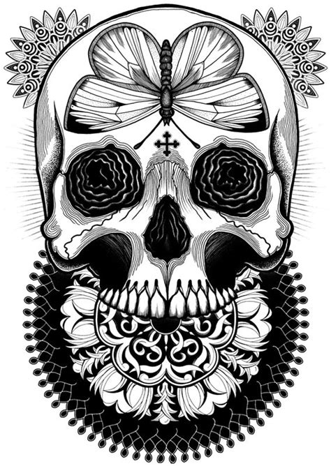 17 Best images about draw .. a skull on Pinterest