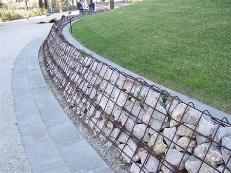 cheap garden wall all about gabions cheap retaining and other garden features pith vigor