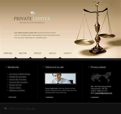 Lawyer Website Template 19624 Lawyer Web Templates