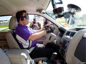 Blind Car Blind Drivers At The Steering Wheel Bbc News