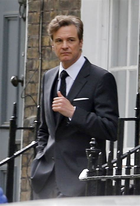 Colin Firth on the set of Bridget Jones's Baby as Mark ... Colin Firth Movies