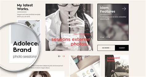 Meghan Portfolio Psd Website Fashion Portfolio Template