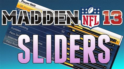 Realistic Connected Careers Sliders Madden 13 All Madden Connected Careers Sliders Skill