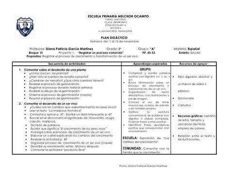 planeacion semanal ingles de segundo de secundaria ensayos plan did 225 ctico segundo bloque