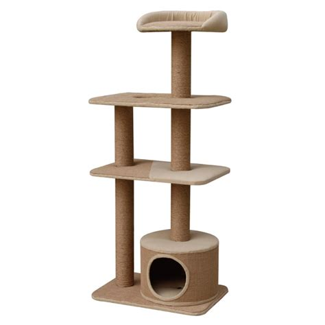 Catok Codos pet pals pet pals four level recycled paper cat playhouse with condo cat trees towers perches