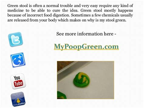 why is stool green