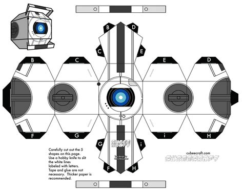 portal cube papercraft newhairstylesformen2014