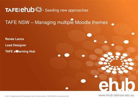 Moodle Multiple Themes | tafe nsw managing multiple moodle themes