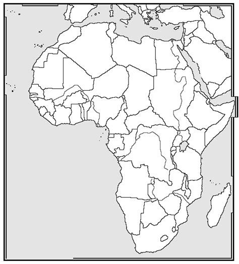 africa map quiz printout zoomschool africa map unlabeled images