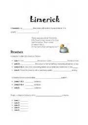 limerick template printable limerick worksheet ommunist