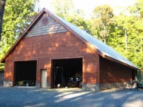 steel garage with cedar siding in leonard md