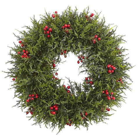 artificial cedar berry wreath artificial christmas wreaths