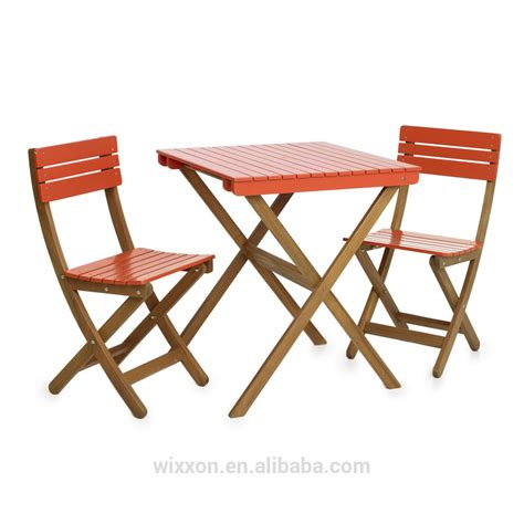 Wooden Folding Garden Table Set Chair Set Wooden Bistro Patio Bistro Tables