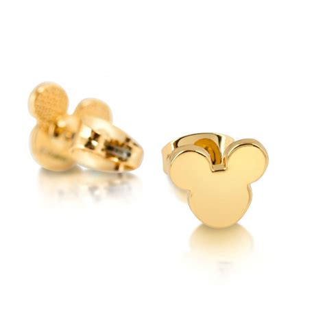 disney couture gold plated mickey mouse stud earrings