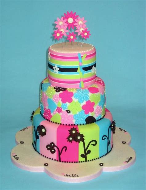 Colorful Baby Shower Cakes 3 tier colorful baby shower cake jpg hi res 720p hd