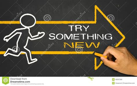 try something new this try something new stock image image of choice support 46567289