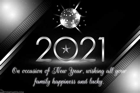 silver happy  year  card maker