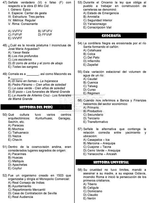 examen de admision a la universidad publicaciones anuies examen admisi 243 n villareal universidad 2017 unfv
