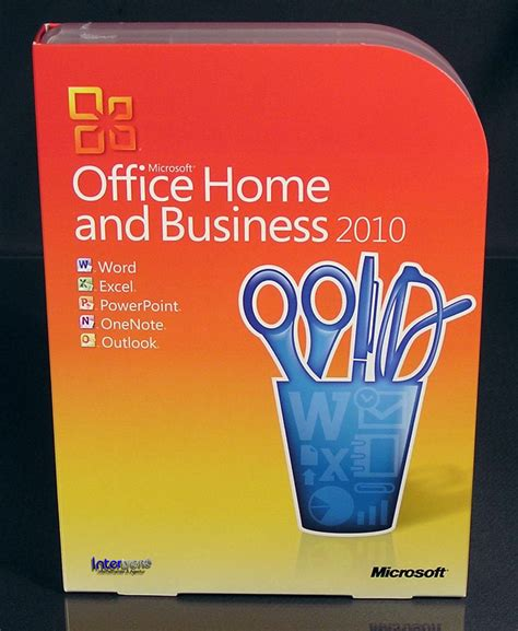 microsoft office home and business 2010 vollversion box