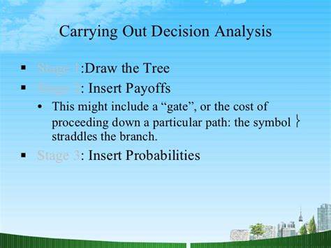 Decision Analytics Jenkins Mba by Decision Techniques Ppt Mba Opreatiop Mgmt