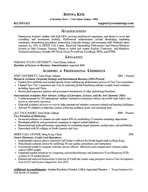 Entry Level It Resume Exles by Entry Level Resume Sle Entry Level Resume
