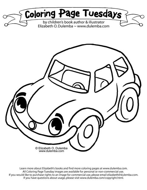 big car coloring page dulemba coloring page tuesday car