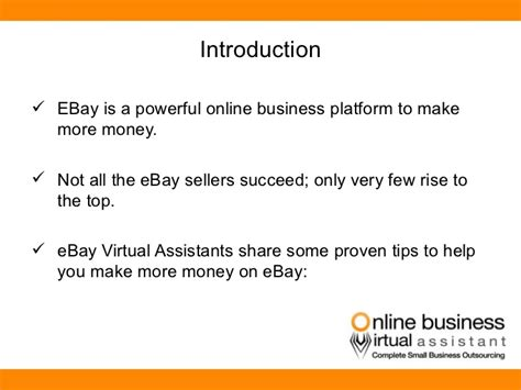 5 Tips To Make Money 5 Simple Tips To Make Money On Ebay By Obva