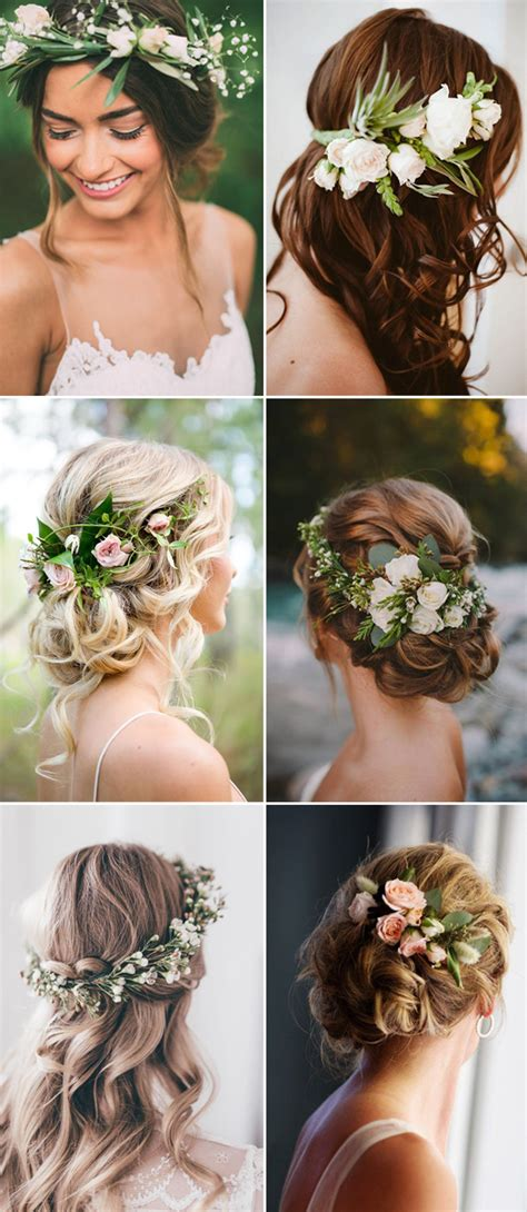 wedding hairstyles flower 2017 new wedding hairstyles for brides and flower