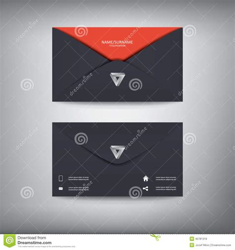 modern creative business card template in envelope stock