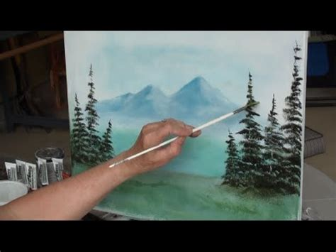 bob ross painting an evergreen tree painting with yovette quot how to paint evergreen trees quot pt 1
