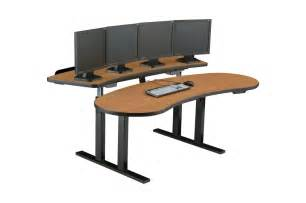 Computer Desk Ergonomics Sit Stand Workstation Adjustable Computer Desk
