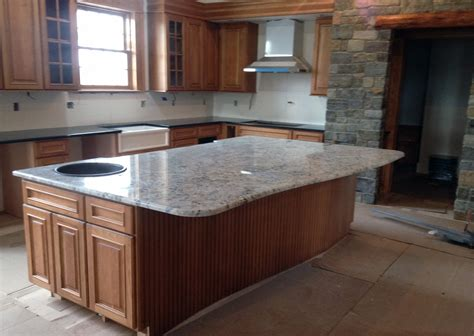 granite kitchen cabinets white ice granite