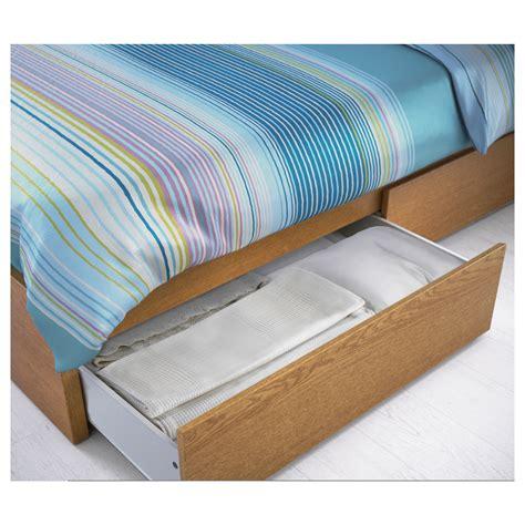 High Bed Frame With Storage Malm Bed Frame High W 4 Storage Boxes Oak Veneer Lur 246 Y Standard Ikea