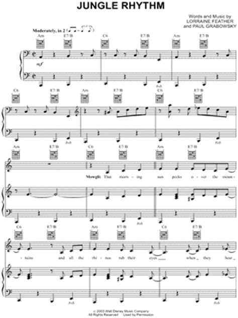 jungle rhythm lorraine feather quot jungle rhythm quot sheet music download