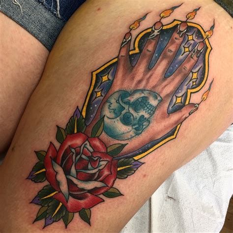 hand of glory tattoo of on thigh best ideas gallery