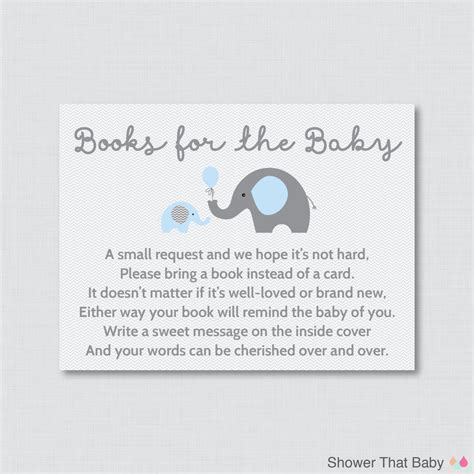 baby shower book instead of card free template elephant baby shower bring a book instead of a card invitation