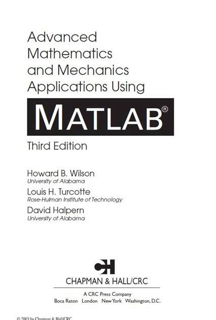 advanced linear algebra for engineers with matlab books chemical elibrary free engineering books advanced