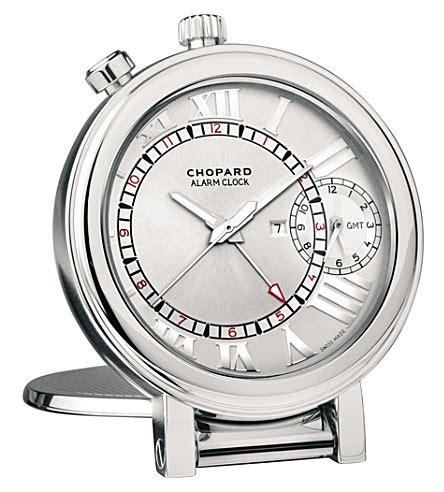 chopard 1963 stainless steel travel alarm clock selfridges