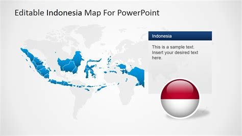 editable indonesia powerpoint map slidemodel
